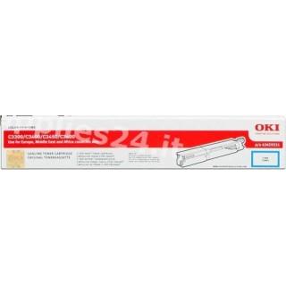 ORIGINAL OKI toner ciano 43459331 ~2500 PAGINE