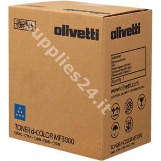 ORIGINAL Olivetti toner ciano B0892 A0X54L2 ~6000 PAGINE