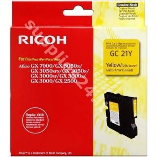 ORIGINAL Ricoh cartuccia giallo 405535 405543 / GC-21Y ~1000 PAGINE capacit� normale
