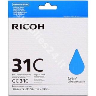 ORIGINAL Ricoh Cartuccia d'inchiostro ciano 405689 GC31C