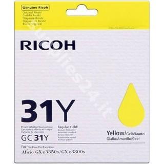 ORIGINAL Ricoh Cartuccia d'inchiostro giallo 405691 GC31Y
