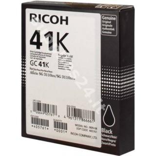 ORIGINAL Ricoh cartuccia nero 405761 GC 41 bk ~2500 PAGINE