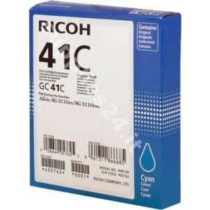 ORIGINAL Ricoh cartuccia ciano 405762 GC 41 c ~2200 PAGINE