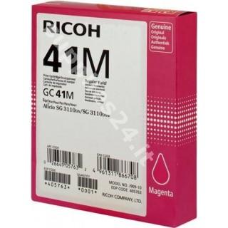 ORIGINAL Ricoh cartuccia magenta 405763 GC 41 m ~2200 PAGINE