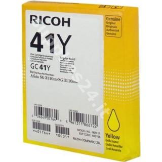 ORIGINAL Ricoh cartuccia giallo 405764 GC 41 y ~2200 PAGINE