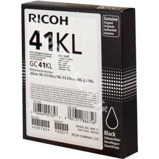 ORIGINAL Ricoh cartuccia nero 405765 GC 41 bkl ~600 PAGINE