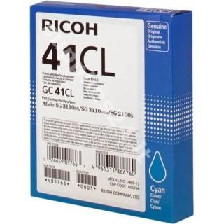 ORIGINAL Ricoh cartuccia ciano 405766 GC 41 cl ~600 PAGINE