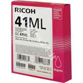 ORIGINAL Ricoh cartuccia magenta 405767 GC 41 ml ~600 PAGINE