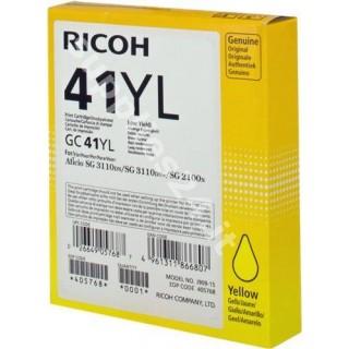 ORIGINAL Ricoh cartuccia giallo 405768 GC 41 yl ~600 PAGINE