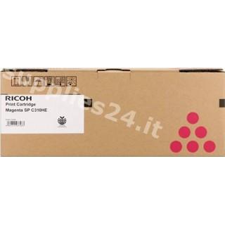 ORIGINAL Ricoh toner magenta 407636 406481 / SPC-310m ~6000 PAGINE alta capacit�