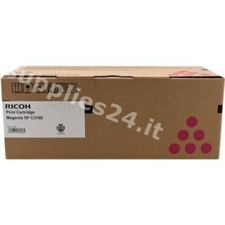 ORIGINAL Ricoh toner magenta 407640 406350 / SPC-310sm ~2500 PAGINE standard