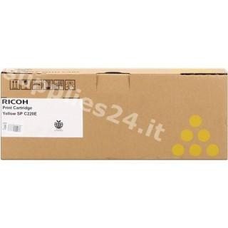 ORIGINAL Ricoh toner giallo 407643 406055 / 406106 / 406768 ~2000 PAGINE SP C220E