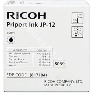 ORIGINAL Ricoh Cartuccia d'inchiostro nero 817104 JP12 600ml