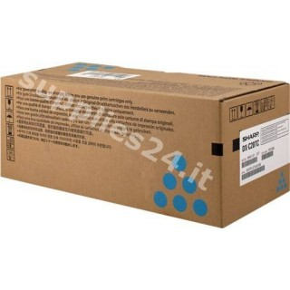 ORIGINAL Sharp toner ciano DX-C20TC ~5000 PAGINE