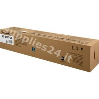 ORIGINAL Sharp toner ciano MX-62GTCA MX-62GTCB ~40000 PAGINE