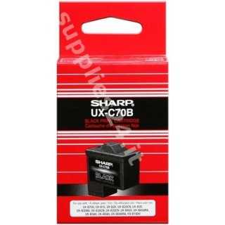 ORIGINAL Sharp Cartuccia d'inchiostro nero UX-C70B ~600 PAGINE