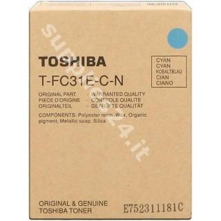 ORIGINAL Toshiba toner ciano PS-ZTFC31ECN 6AG00002003 ~10700 PAGINE