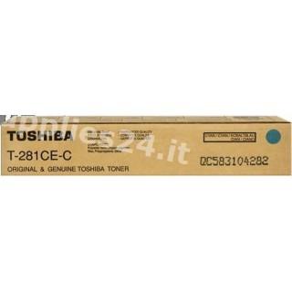 ORIGINAL Toshiba toner ciano T-281-CEC 6AK00000046 ~10000 PAGINE