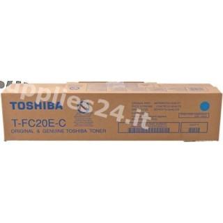 ORIGINAL Toshiba toner ciano T-FC20EC 6AJ00000064 ~16800 PAGINE