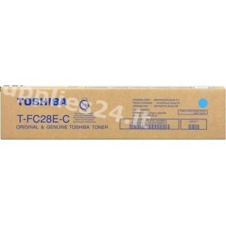 ORIGINAL Toshiba toner ciano T-FC28EC 6AJ00000046 ~24000 PAGINE