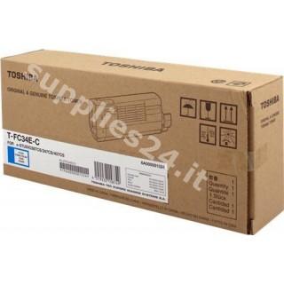 ORIGINAL Toshiba toner ciano T-FC34EC 6A000001524 ~11500 PAGINE