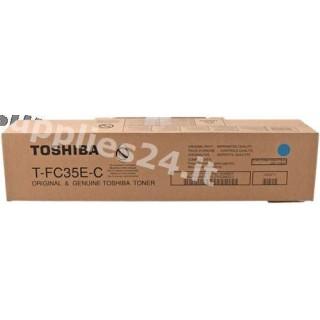 ORIGINAL Toshiba toner ciano T-FC35EC 6AJ00000050 ~29500 PAGINE