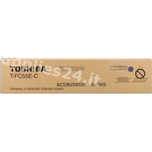 ORIGINAL Toshiba toner ciano T-FC55EC 6AK00000114 ~26500 PAGINE