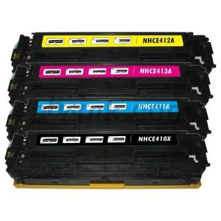 CE410X KIT 4 Toner Rigenerati Per HP LaserJet Enterprise 300 M351a M451dn M451dw M451nw Pro MFP 375nw MFP M475dn MPF M475dw