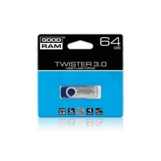 GoodRAM pendrive 64GB USB 3.0 TWISTER BLUE - reatil blister