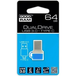 GoodRAM 64GB USB 3.0 type C DUALDRIVE con cappuccio blu