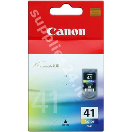 CL-41 Cartuccia Originale Canon Colore IP2200 IP2600 IP6210D IP6220D MP140 MP150 MP180 MP190 MP450 MP460 MX300 MX310