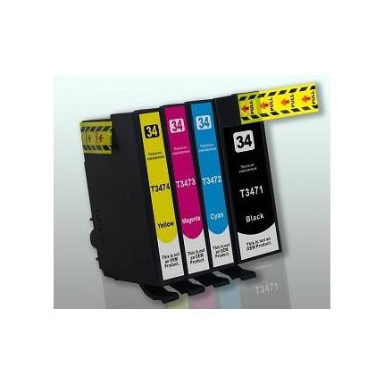 Cartucce Epson WF 3725 WF 3720 Kit 4 cartucce compatibili