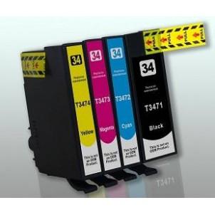 EPSON 34XL Kit 4 Cartucce Compatibili Per Epson WF-3720DWF WF-3725DWF
