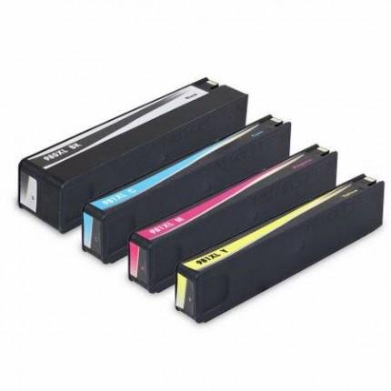 HP981XL Kit 4 Cartucce Compatibili Per Hp PageWide Enterprise Color 556xh 556dn MFP 586dn 586Z 586F