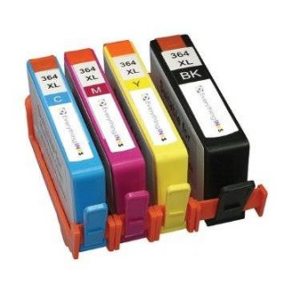 Kit 4 Cartucce HP 364 XL Compatibili Per Deskjet 3070a Photosmart 5510 5520 6520 7520 b110 b010 d5460 c5380 c310