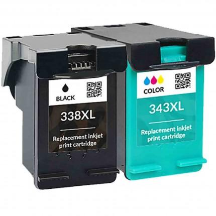 Cartucce Hp Photosmart C3180 Compatibili 338 343