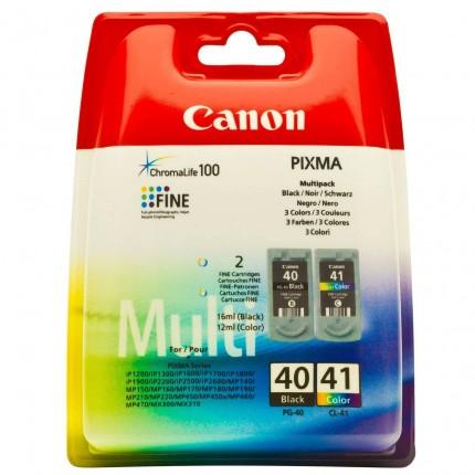 PG-40+CL-41 KIT  Cartucce Originali Canon Nero + Colore IP2200 IP2600 MP140 MP150  MP450 MP460 JX200  MX300 MX310