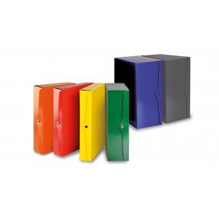 Portaprogetti con bottone monolucido - DORSO 10 - ROSSO